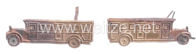 Deutsche Reichspost Paar Kragenspiegelauflagenfür einen Postbusfahrer vor 1933