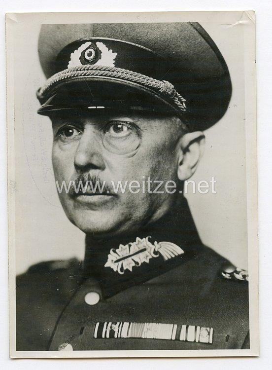 Weimarer Republik Pressefoto: Generaloberst Werner von Fritsch