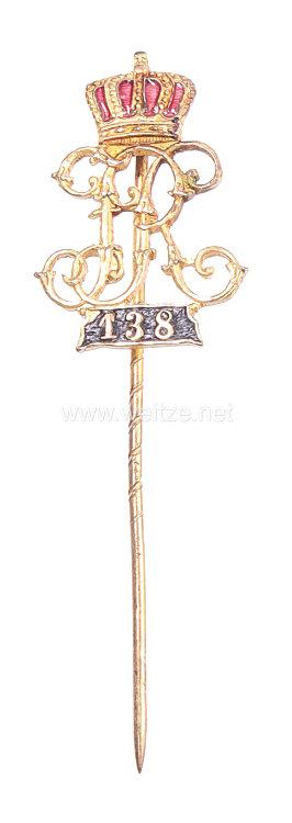 Preußen Zivilnadel für die ehemaligen Angehörigen im 3. Unter-Elsässischen Infanterie-Regiment Nr. 138