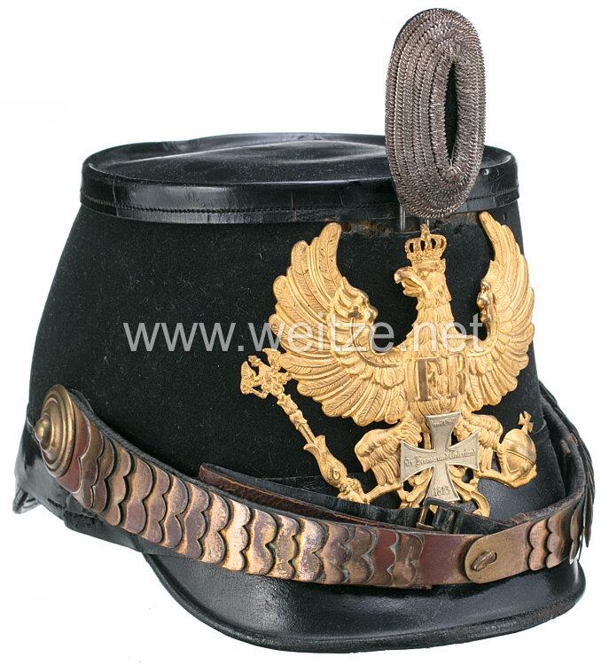 Preußen Tschako für einen Reserveoffizier der Jäger-Bataillone 3, 4,5,6,7,8,9 und 11.