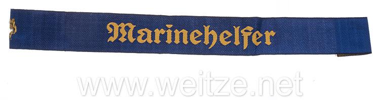 """Kriegsmarine Ärmelband """"Marinehelfer"""""""