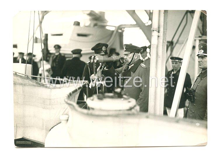 Weimarer Republik Foto, General von Hindenburg besucht die Reichsmarine
