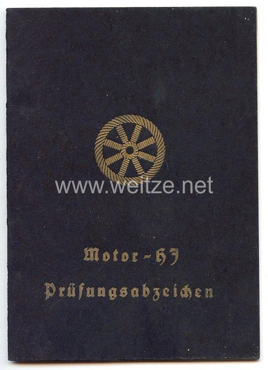 HJ - Motor-HJ Prüfungsabzeichen - Urkundenbuch