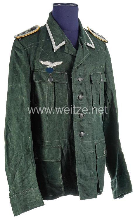 Luftwaffen-Felddivision Drillich Feldbluse für einen Oberfeldwebel der Fliegertruppe