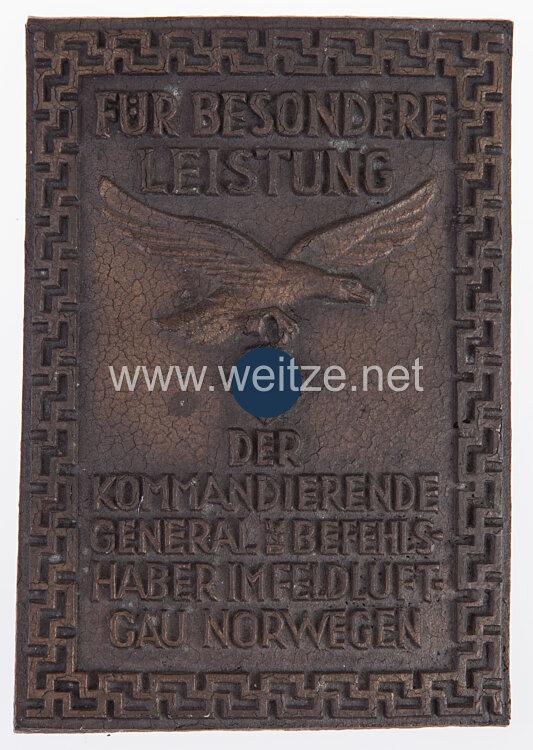 Luftwaffe Eiserne Ehrenplakette des Feldluftgau Norwegen