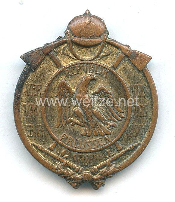 Freistaat Preußen Feuerwehr-Erinnerungsabzeichen, 1925-1933