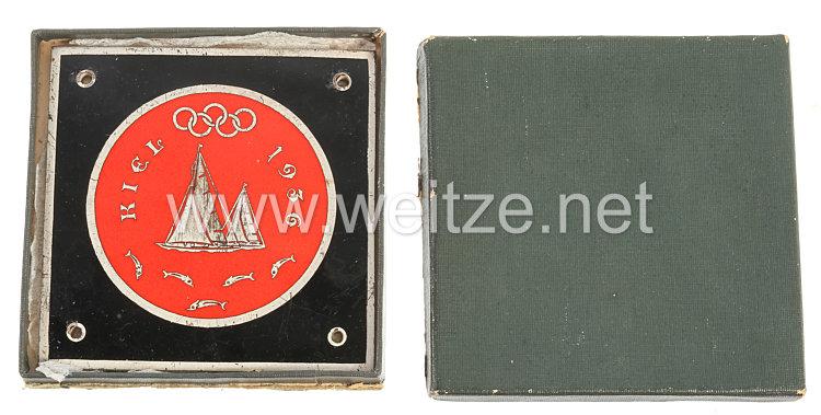 XI. Olympischen Spiele 1936 Berlin - offizielle Autoplakette für die Segelwettkämpfe in Kiel