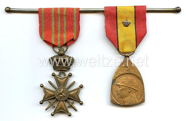 Belgien Ordensspange eines Veteranen des 1. Weltkriegs
