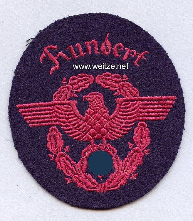 """III. Reich Feuerwehr Ärmeladler """" Hundert """""""