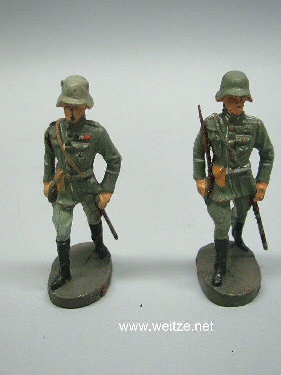 Elastolin - Heer 2 Offiziere marschierend