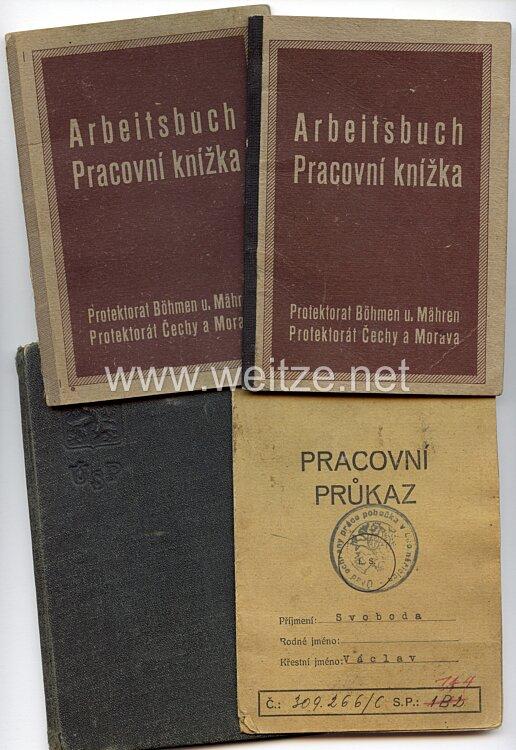 III. Reich - Protektorat Böhmen und Mähren - Dokumentengruppe für einen Mann des Jahrgangs 1912