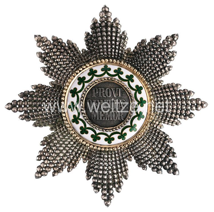 Sachsen Königreich Hausorden der Rautenkrone - Bruststern zum Großkreuz