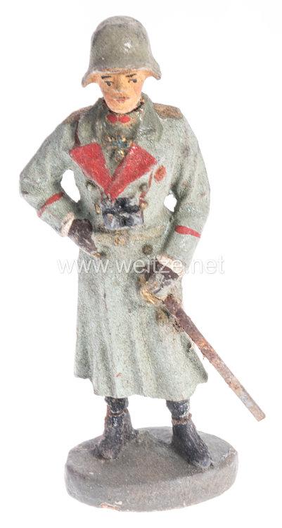 Elastolin - Heer Generalstabsoffizier im Mantel stehend