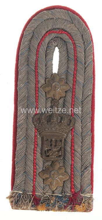 Preußen 1. Weltkrieg Einzel Schulterstück feldgrau für einen Militär-Baubeamten im Range des Regierungsbaumeisters