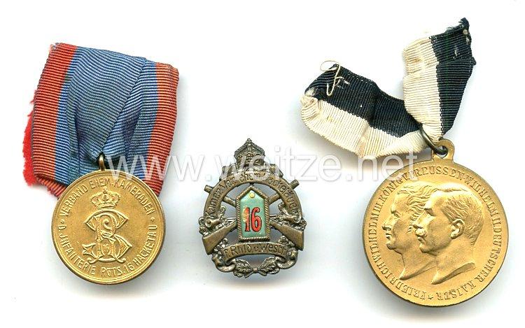 Preussen DiverseAuszeichnungen Infanterie Regiment N 16 Freikorps Hacketau