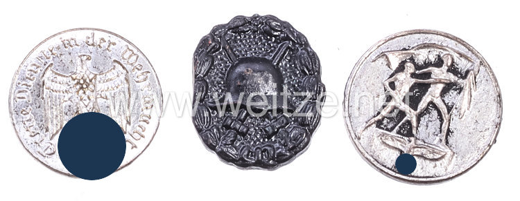 Konvolut von 3 Miniaturen für Bandspangen, Knopflochschleifen