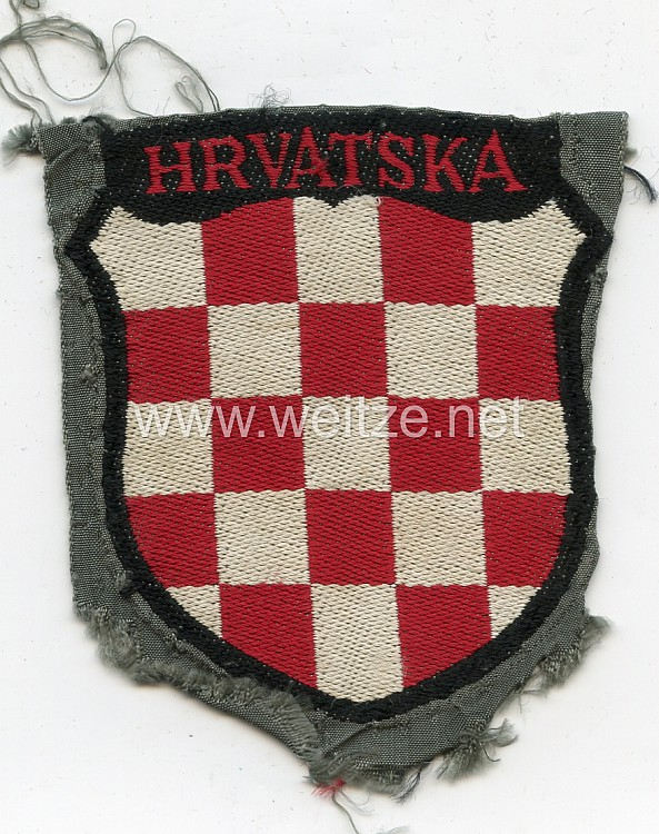 Heer Ärmelschild der kroatischen Freiwilligen in der Wehrmacht