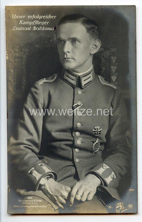 Fliegerei 1. Weltkrieg - Fotopostkarte  - Deutsche Fliegerhelden