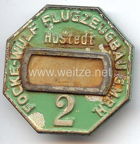 Werksabzeichen für Zivilangestellte der Focke-Wulf-Flugzeugbau G.m.b.H. Hostedt 2