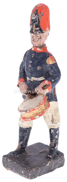 Lineol - 1. Weltkrieg Preussen Trommler in blauer Uniform marschierend