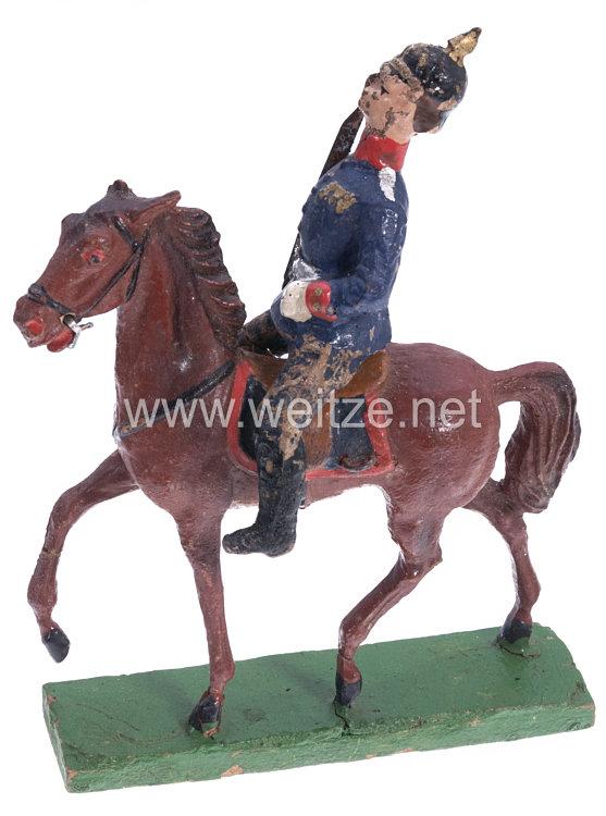 1. Weltkrieg Preussen Offizier auf Schreitpferd