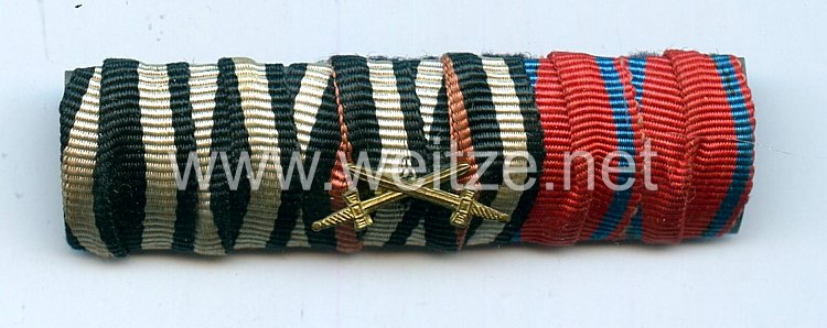 Bandspange eines oldenburgischen Veteranen des 1. Weltkriegs
