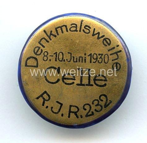 Denkmalsweihe Celle 8.-10. Juni 1930 Reserve-Infanterie-Regiment 232