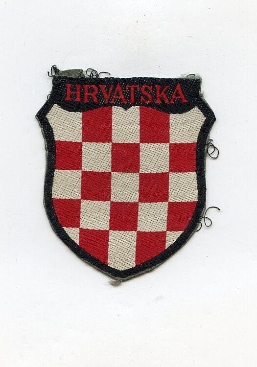 Wehrmacht Heer Ärmelschild der kroatischen Freiwilligen in der Wehrmacht
