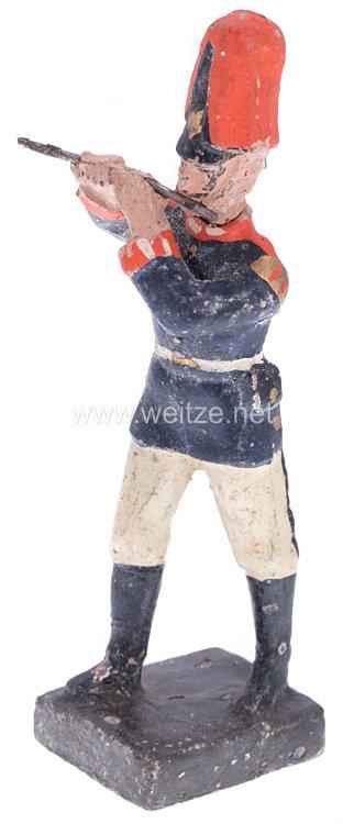 Lineol - 1. Weltkrieg Preussen Pfeifer in blauer Uniform marschierend