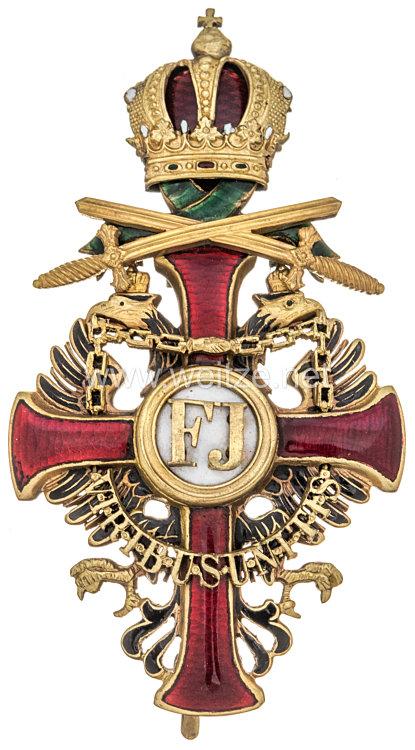Österreich K.u.K. Monarchie Franz-Joseph Orden Offizierskreuz mit Kriegsdekoration und Schwertern