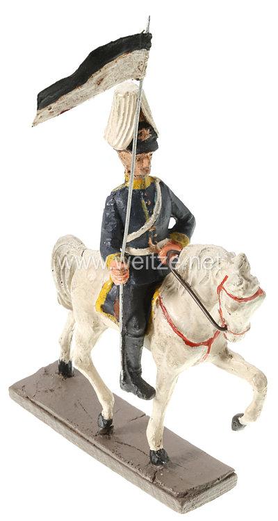 1. Weltkrieg Preussen Lanzenreiter auf Schreitpferd