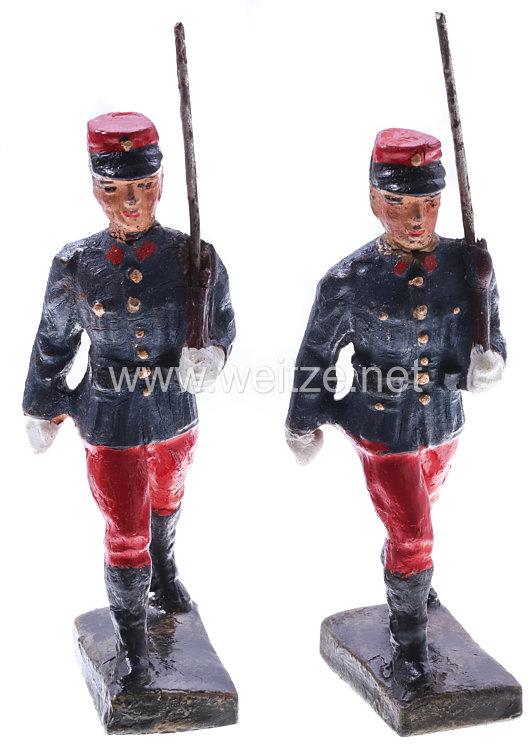 Lineol- Frankreich 2 Soldaten marschierend