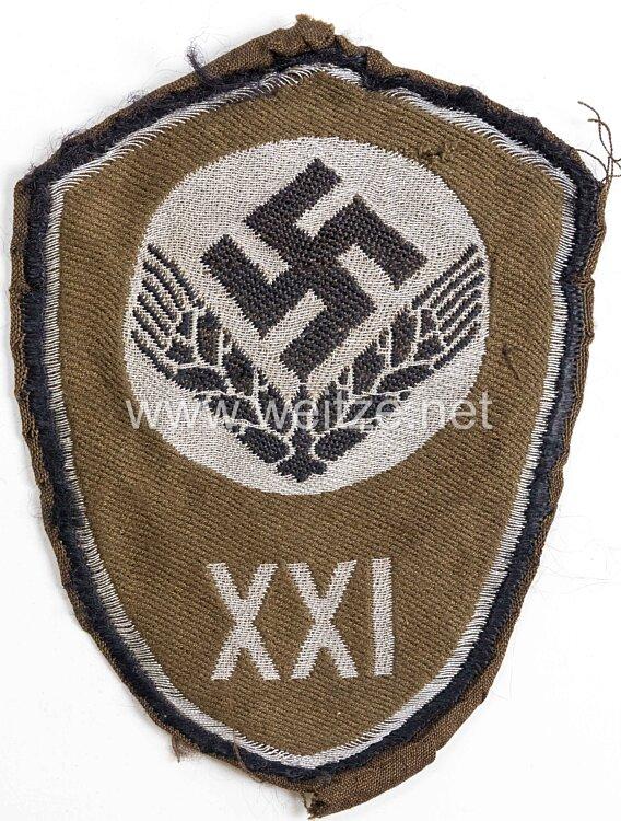 """Reichsarbeitsdienst weibliche Jugend (RAD) Ärmelschild """"XXI"""" Donauland für Führerinnen"""