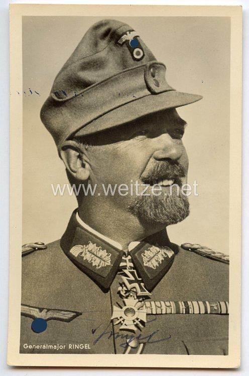 Heer - Originalunterschrift von Ritterkreuzträger Generalmajor Julius Ringel