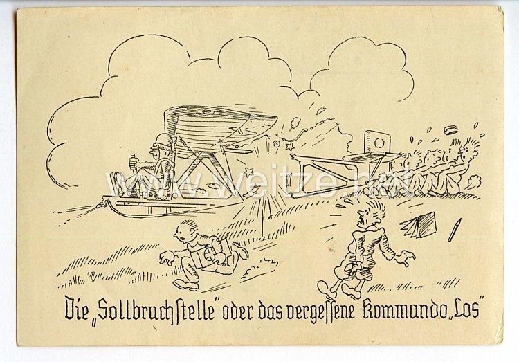 """Deutscher Luftsport-Verband ( DLV ) - Propaganda-Postkarte - """" Die Sollbruchstelle oder das vergessene Kommando LOS """""""
