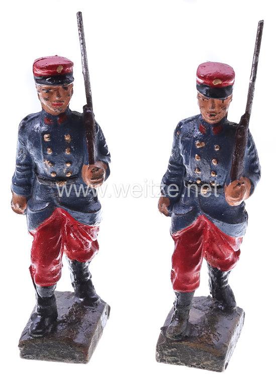 Elastolin - Frankreich 2 Soldaten marschierend