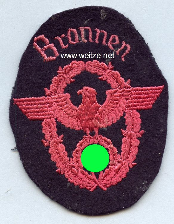 """III. Reich Feuerwehr Ärmeladler """" Bronnen """""""
