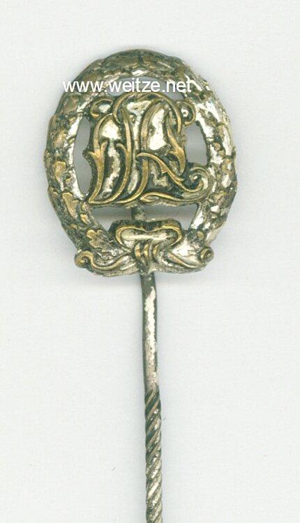 Deutsches Reichssportabzeichen in Silber DRL ohne Hakenkreuz - Miniatur