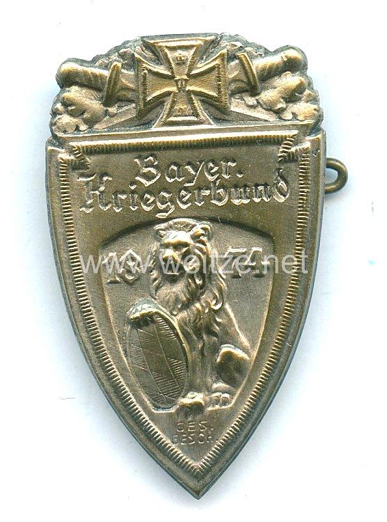 """Bayern Mitgliedsabzeichen """"Bayer. Kriegerbund 1874"""""""