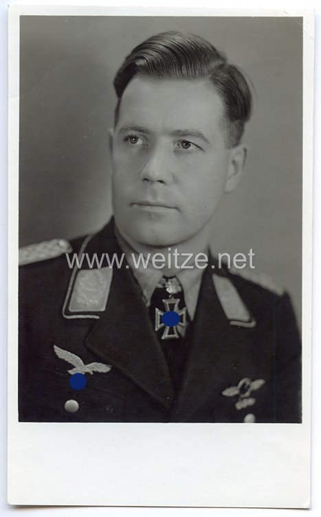 Luftwaffe - Originalunterschrift von Ritterkreuzträger Oberstleutnant Gustav Preßler