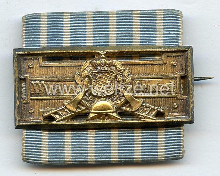 Bayern Feuerwehr-Ehrenzeichen nach 25-jähriger Dienstleistung (1884 - 1918) .