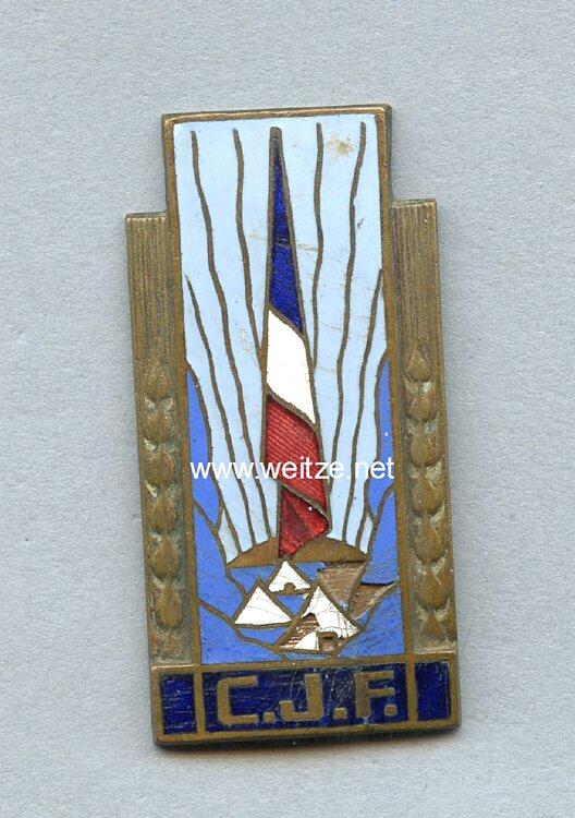 """Frankreich 2. Weltkrieg Vichy Regierung Mitgliedsabzeichen """"Chantier de la Jeunesse"""""""