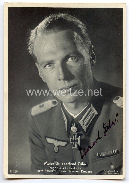 Heer - Originalunterschrift von Ritterkreuzträger Major Dr. Eberhard Zahn