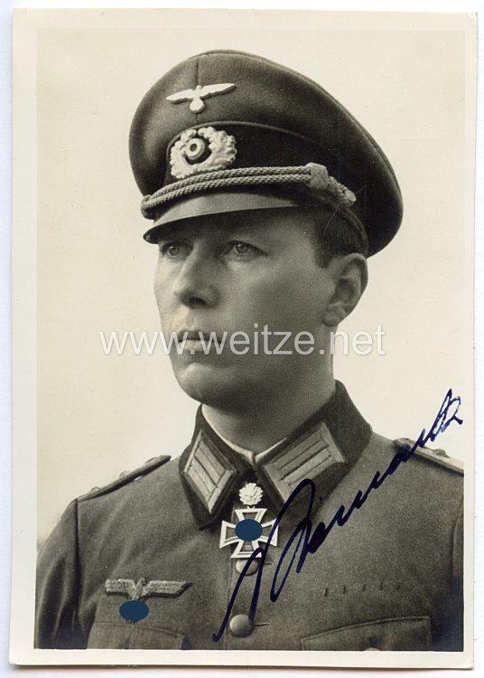 Heer - Originalunterschrift von Ritterkreuzträger Rittmeister Horst Niemack