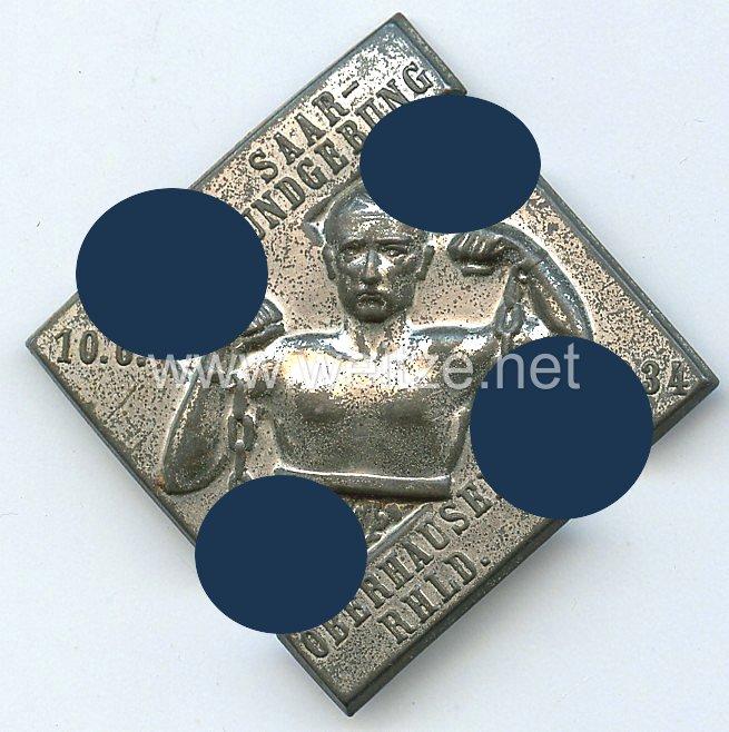 III. Reich - Saarkundgebung 10.6.1934 Oberhausen/Rheinland