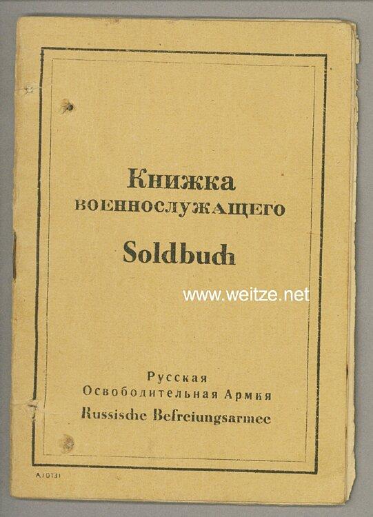 Wehrmacht Russische Befreiungsarmee ( POA ) - Soldbuch