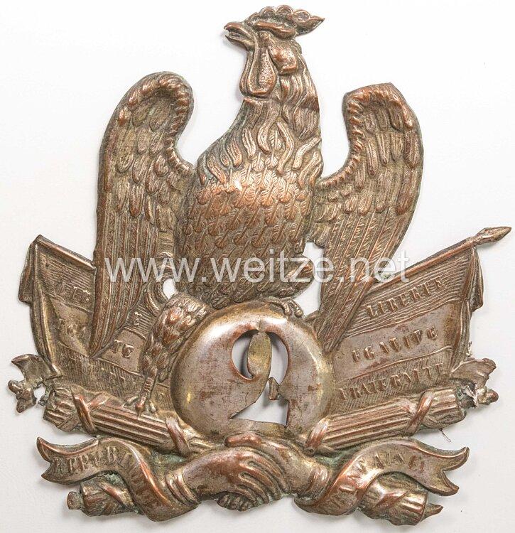 Frankreich Tschako Adler für Mannschaften Infanterie Zeit Louis Philippe