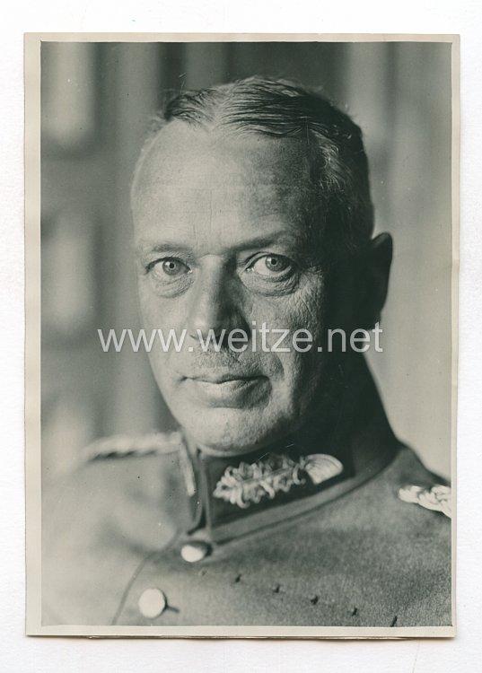 Weimarer Republik Pressefoto: Generalmajor Wachenfeld Stabschefgruppenkommando I