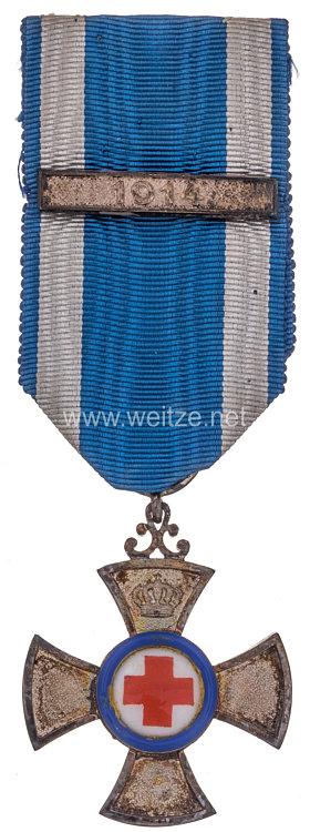 Bayern Verdienstkreuz für Freiwillige Krankenpflege 1901-1918 mit der Spange 1914