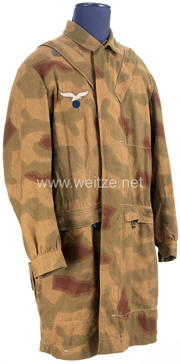Luftwaffe Kombination M 42 für Fallschirmjäger in Sumpftarnmuster